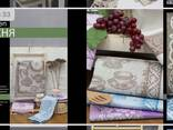 Bedding, kitchen and bath accessories made of natural corrugated, ecologically clean linen - photo 8