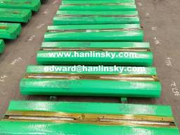 High Chrome / Martensitic Steel Blow Bars with Ceramic Inserts for Impact Crushers