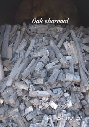Charcoal from oak beam.