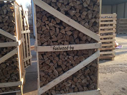 Firewood in crates