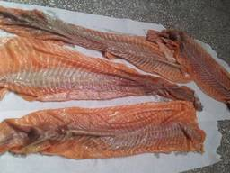 Frozen fish products from the cold store in Lithuania.