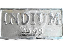 Indium in ingots | metal indium mark InOO GOST 10297-94