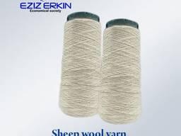 Sheep wool yarn