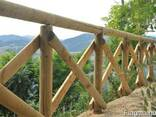 Round wood (pins, logs, bars ) made of pine. - photo 1