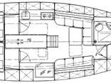 Sail-motor yacht 42ft katch Cruiser - photo 6