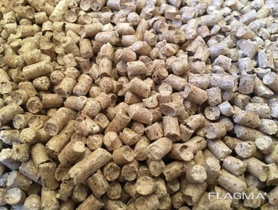 Wood fuel pellets, 6mm
